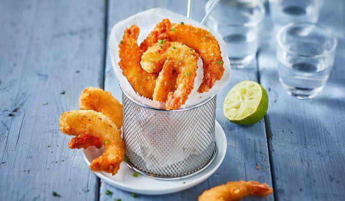 Crevettes panées (10 à 12 pièces)